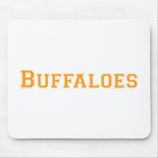 Buffaloes square logo in orange mouse pad
