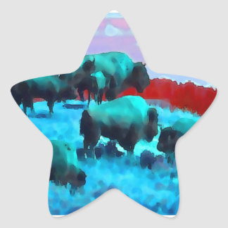 Buffaloes Star Stickers
