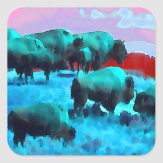 Buffaloes Stickers