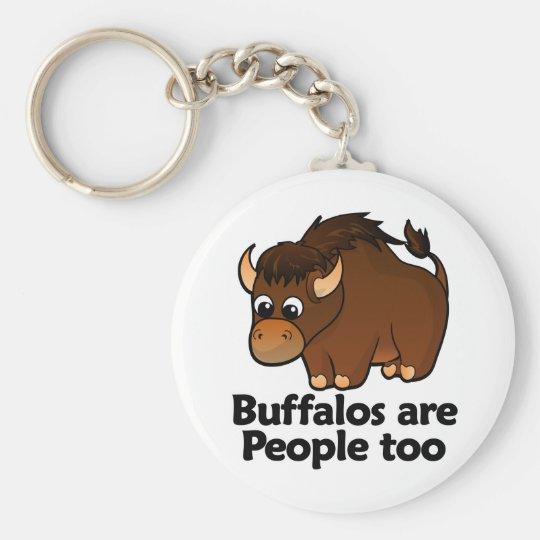 Buffalos are People too Key Ring