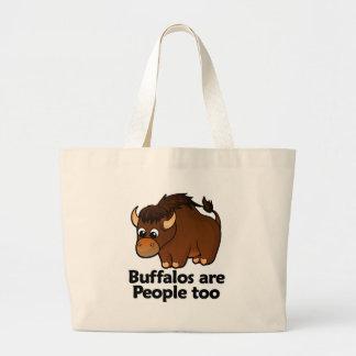 Buffalos are People too Large Tote Bag