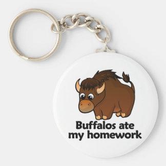 Buffalos ate my homework key ring