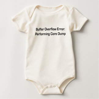 Buffer overflow baby bodysuit