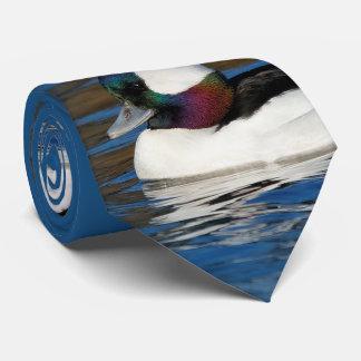 Bufflehead Drake at the Pond Tie