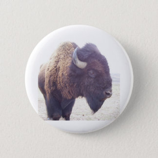 buffy the buffalo 6 cm round badge
