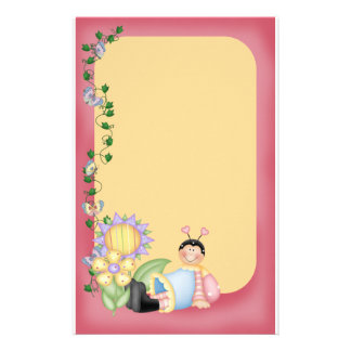 Bug and Butterflies Stationery