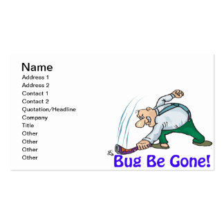 Bug Be Gone Pack Of Standard Business Cards
