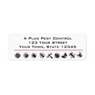 Bug Border, Pest Control Return Address Label