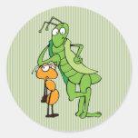 Bug Buddies Round Sticker