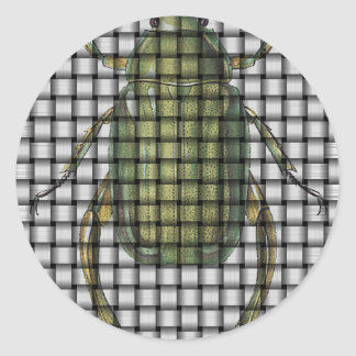 Bug Collection - Weave Beetle Round Sticker