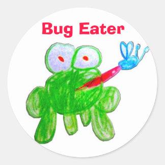 Bug Eater Round Sticker