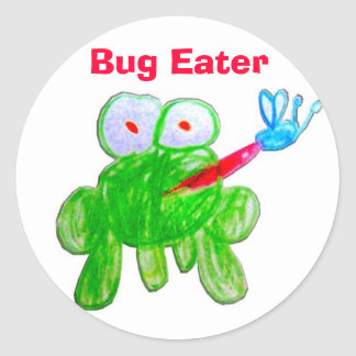 Bug Eater Round Stickers