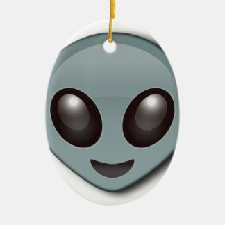 Bug Eyed Alien Ceramic Oval Decoration