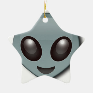 Bug Eyed Alien Ceramic Star Decoration