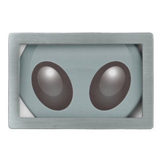Bug Eyed Alien Rectangular Belt Buckles