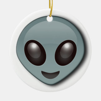 Bug Eyed Alien Round Ceramic Decoration