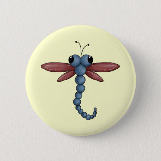 Bug-eyed Dragonfly 6 Cm Round Badge