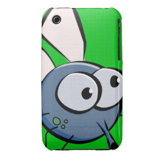 Bug Eyed Fly Face iPhone 3 Cases