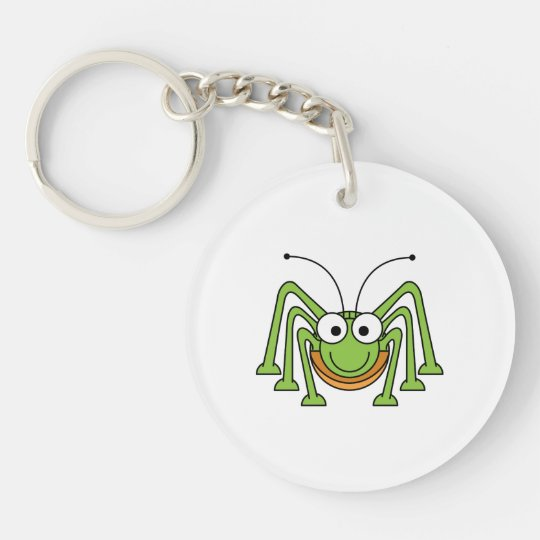 Bug Eyed Grasshopper Cartoon Key Ring