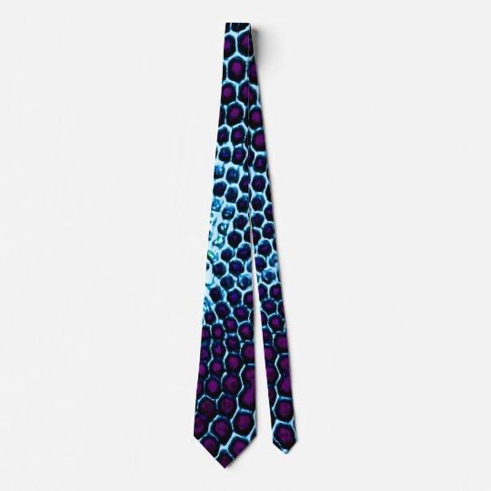 Bug Eyed Honeycomb blue purple Tie