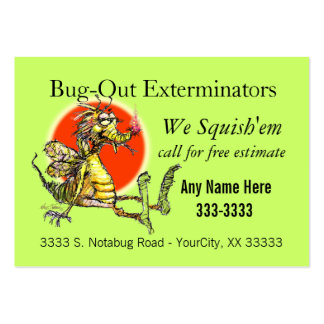 Bug-Fix Large Business Cards (Pack Of 100)