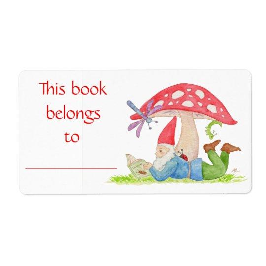 Bug Gnome book label Shipping Label