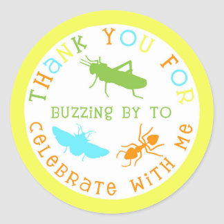 Bug Insect Birthday Party Thank You Stickers