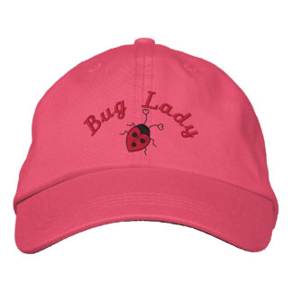 Bug Lady Embroidered Hat
