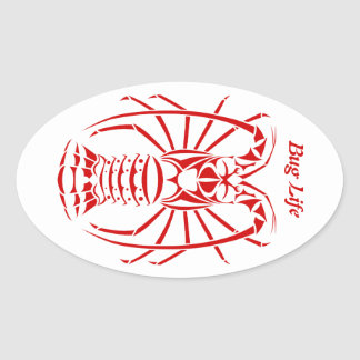 Bug Life Spiny Lobster Decal Oval Sticker