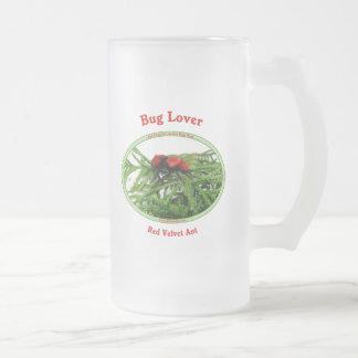 Bug Lover Red Velvet Ant Frosted Glass Mug