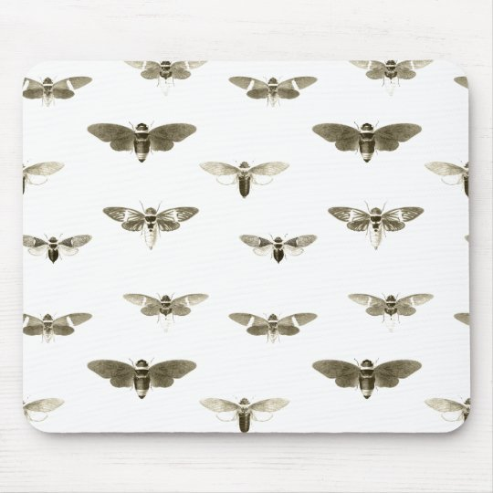 Bug Lover Vintage Insect Illustration Mouse Pad