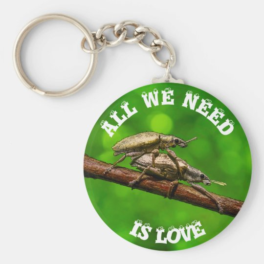 Bug Lovers On The Branch Funny Basic Round Button Key Ring