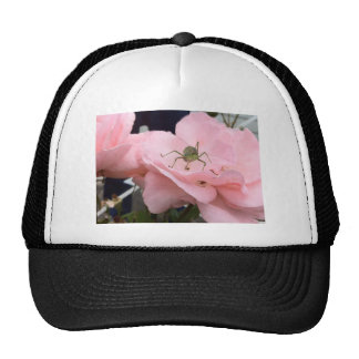 bug on a rose trucker hats