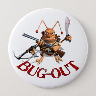Bug-Out Cockroach 10 Cm Round Badge
