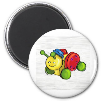 Bug pull toy round magnet