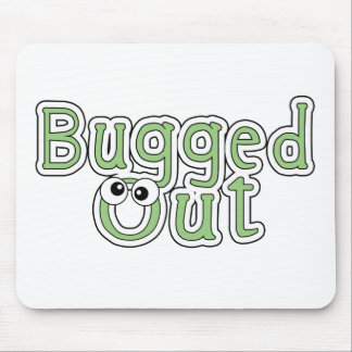 bugged out word mouse pad
