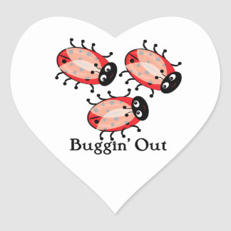 Buggin Out Heart Sticker