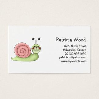 Buggin' You · Green & Pink Snail Business Card