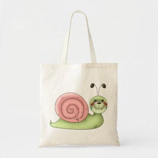 Buggin' You · Snail · green & pink Tote Bag