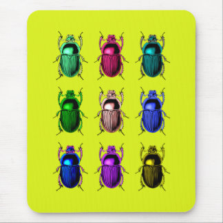 Bugging Out: Colorful Beetle Bugs Mouse Mat