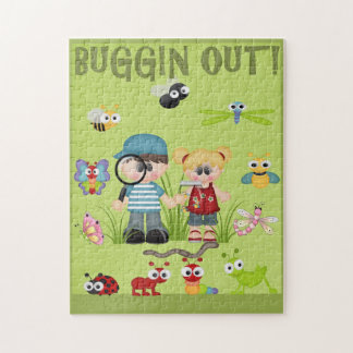 Bugging Out Kids Bug Hunt Hunting Green Grass Jigsaw Puzzle