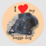 Buggs Dog Stickers-your picture or mine Round Sticker