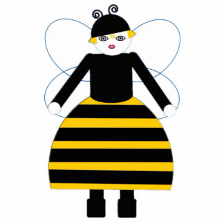 Buggy Martzkin Honey Bee Sculpture Acrylic Cut Outs