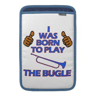 bugle Musical designs MacBook Sleeves