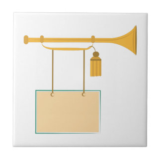 Bugle Sign Small Square Tile