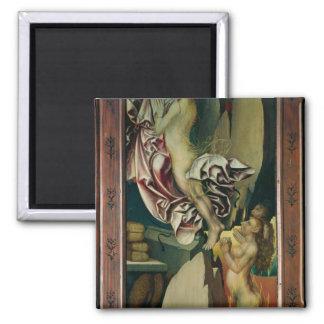Bugnon altarpiece square magnet