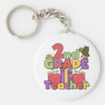 Bugs and Apples 2nd Grade Basic Round Button Key Ring