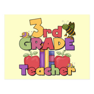 Bugs and Apples 3rd Grade Tshirts and Gift Postcard
