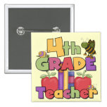 Bugs and Apples 4th Grade Tshirts and Gifts Badge