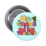 Bugs and Apples 4th Grade Tshirts and Gifts Pins